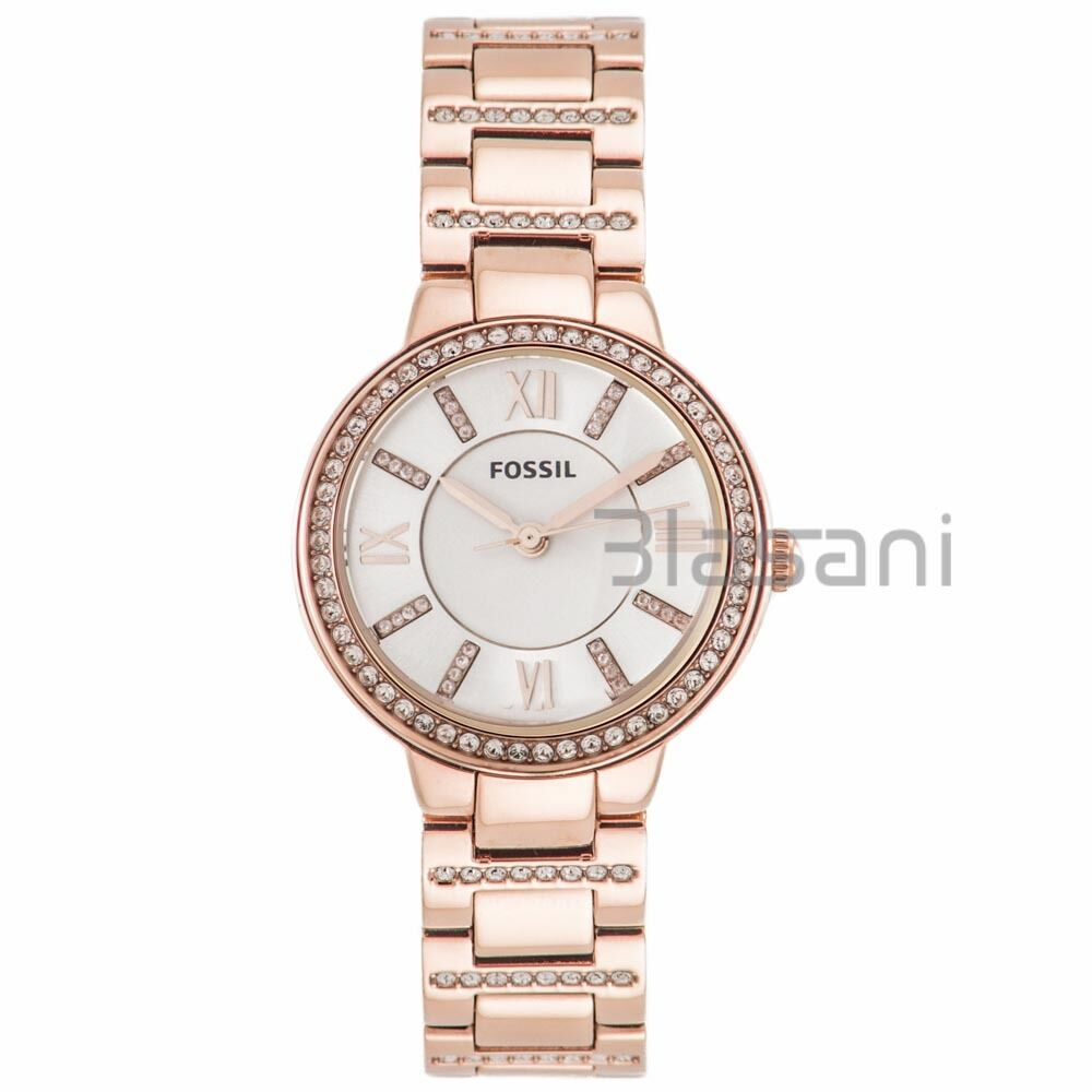 fossil original es3284 women 39 s virginia rose gold stainless steel watch 30mm 796483008076 ebay. Black Bedroom Furniture Sets. Home Design Ideas