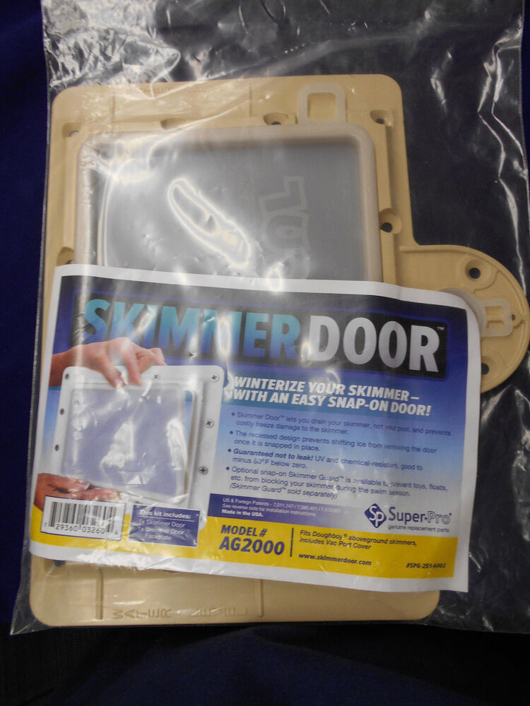 Skimmer Door Winter Closure System For Doughboy Skimmers