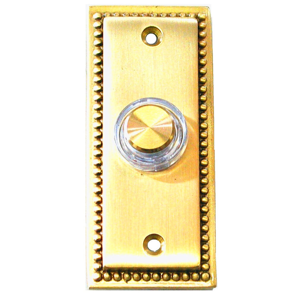 Friedland illunminated wired solid brass door bell chime for 1 by one door chime