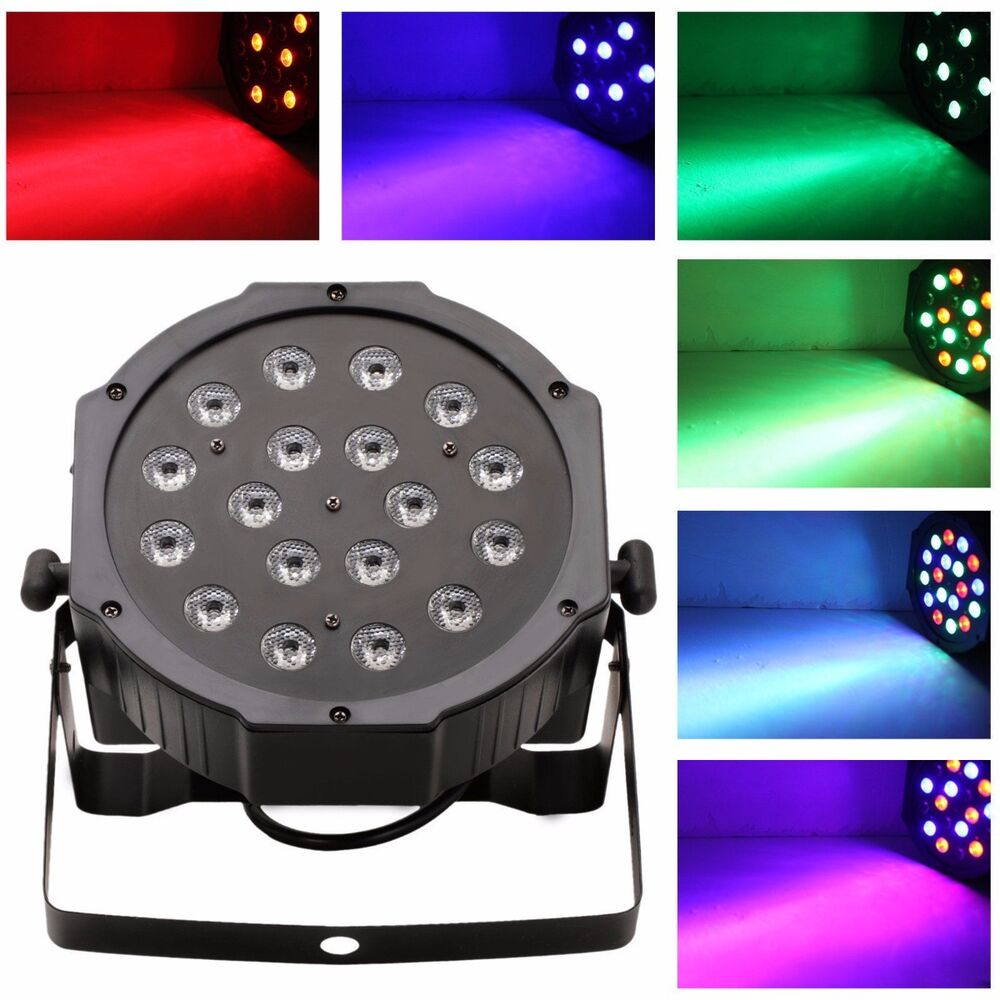 Led Wall Dj Light: 18 LED RGB PAR CAN DJ Stage DMX Lighting For Disco Party