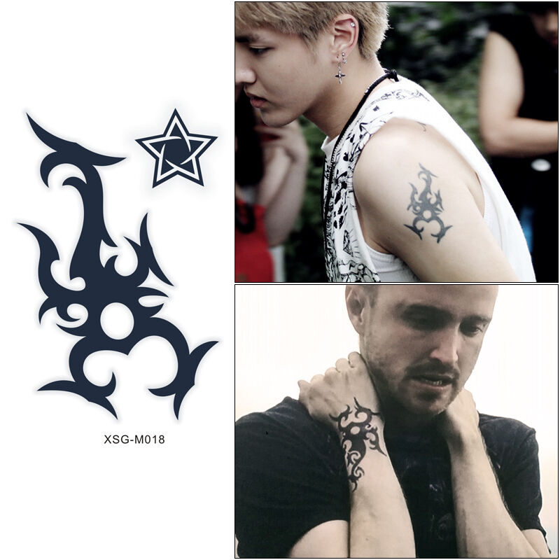 Jessie pinkman 39 s tattoo in totem star temporary tattoo for Vulgar temporary tattoos