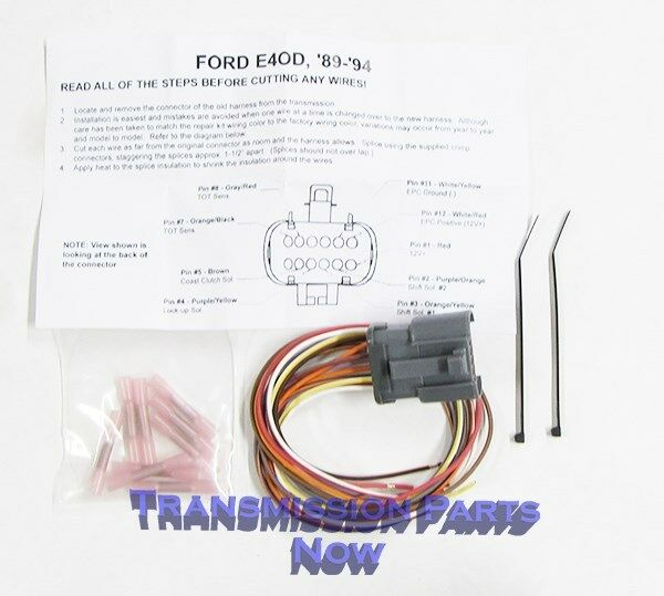 ford transmission external connector repair end e4od 4r100
