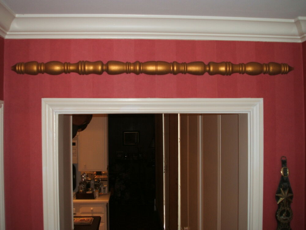 Home decor decoration wood trim spindle w gold leaf for W home decor