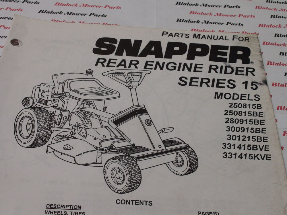 Snapper Series 3 manual