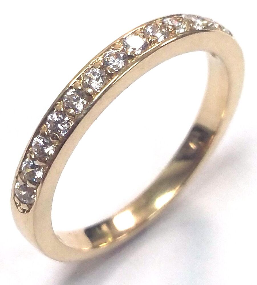 Pavé Bands: 0.22 Ct Pave Set Wedding Engagement Band Ring Diamond 18k