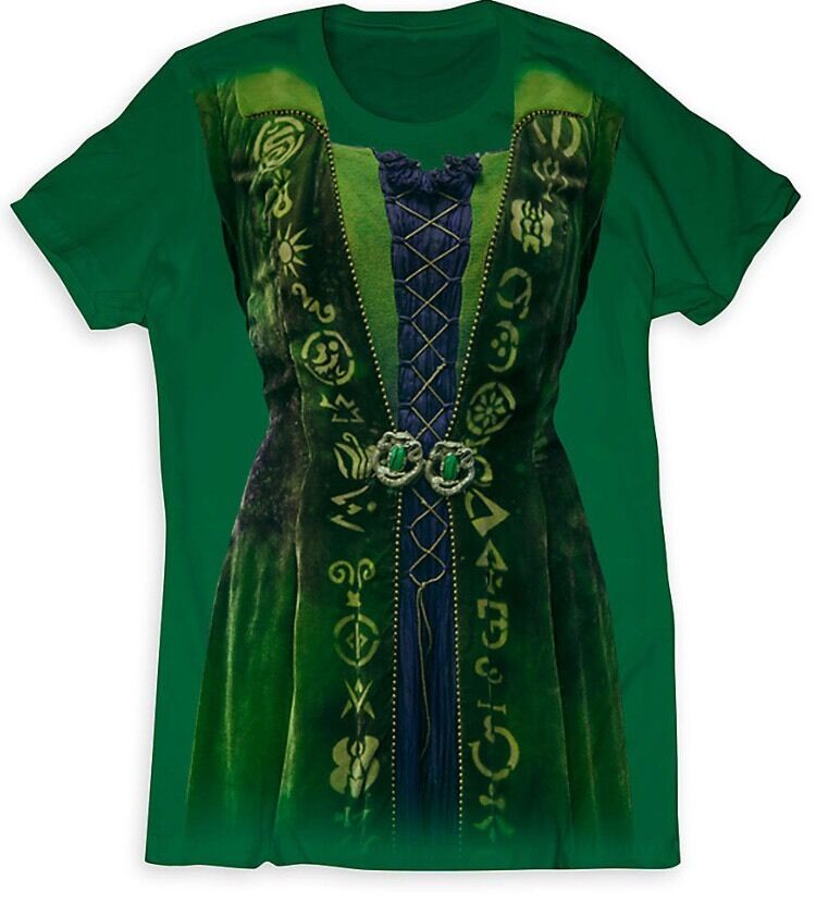 Winifred sanderson tee shirt costume women disney hocus for Oversized disney t shirts