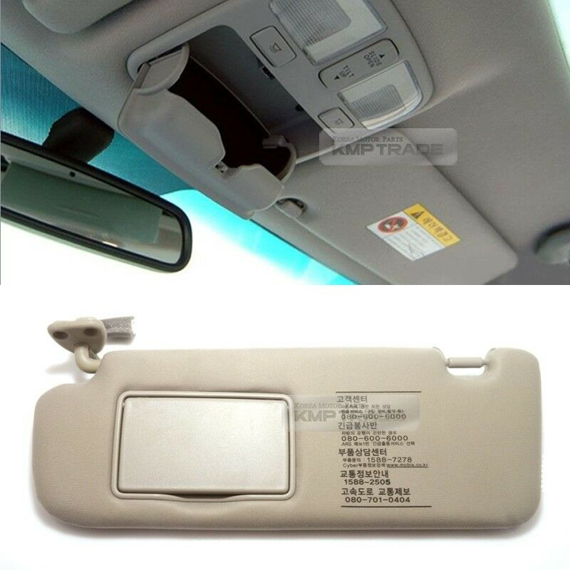 oem interior hand sun visor shade lh beige for hyundai 2006 2010 sonata nf i45 ebay. Black Bedroom Furniture Sets. Home Design Ideas