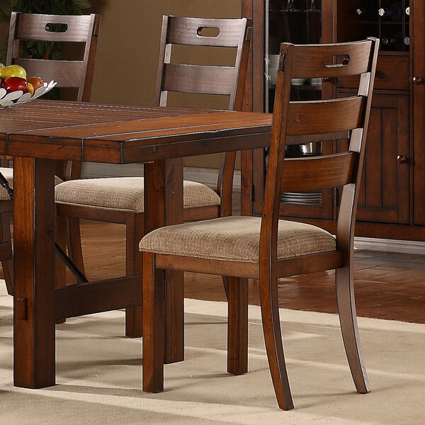Oak Dining Room Furniture: Swindon Rustic Oak Wood Finish Dining Room Furniture Side