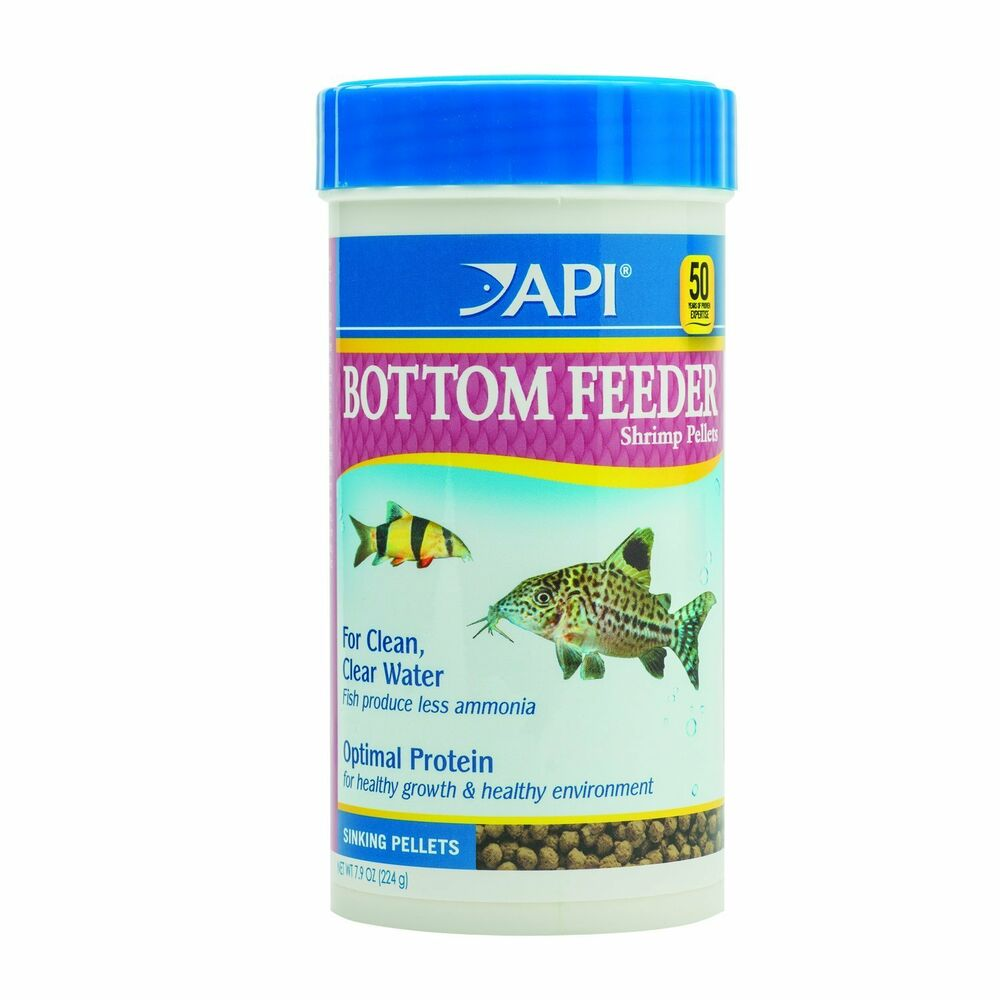 Api fish tank aquarium bottom feeder shrimp pellet ebay for Bottom feeder fish list