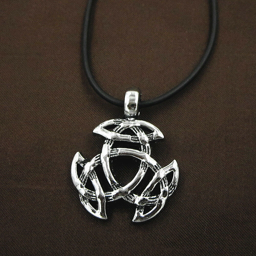 celtic knot triquetra trinity pewter pendant leather chain. Black Bedroom Furniture Sets. Home Design Ideas