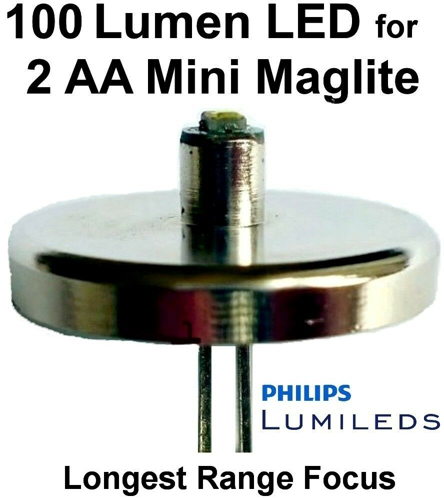 Mini Maglite Led Upgrade Bulb Conversion 2 Aa Philips 1