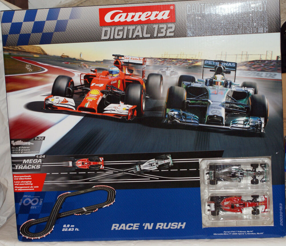 carrera 1 32 scale race 39 n rush electric digital slot car. Black Bedroom Furniture Sets. Home Design Ideas