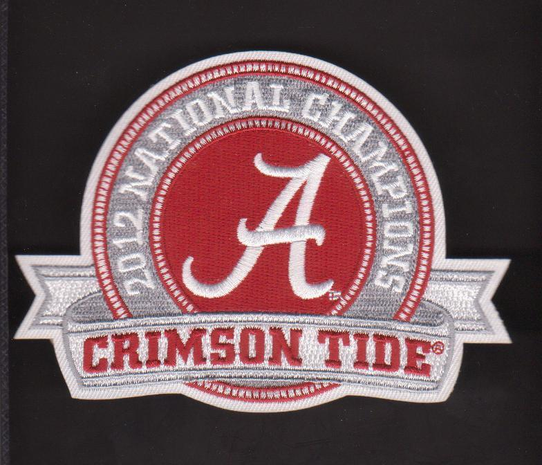 Alabama crimson tide 2012 champion ship jersey patch ebay Alabama sec championship shirt
