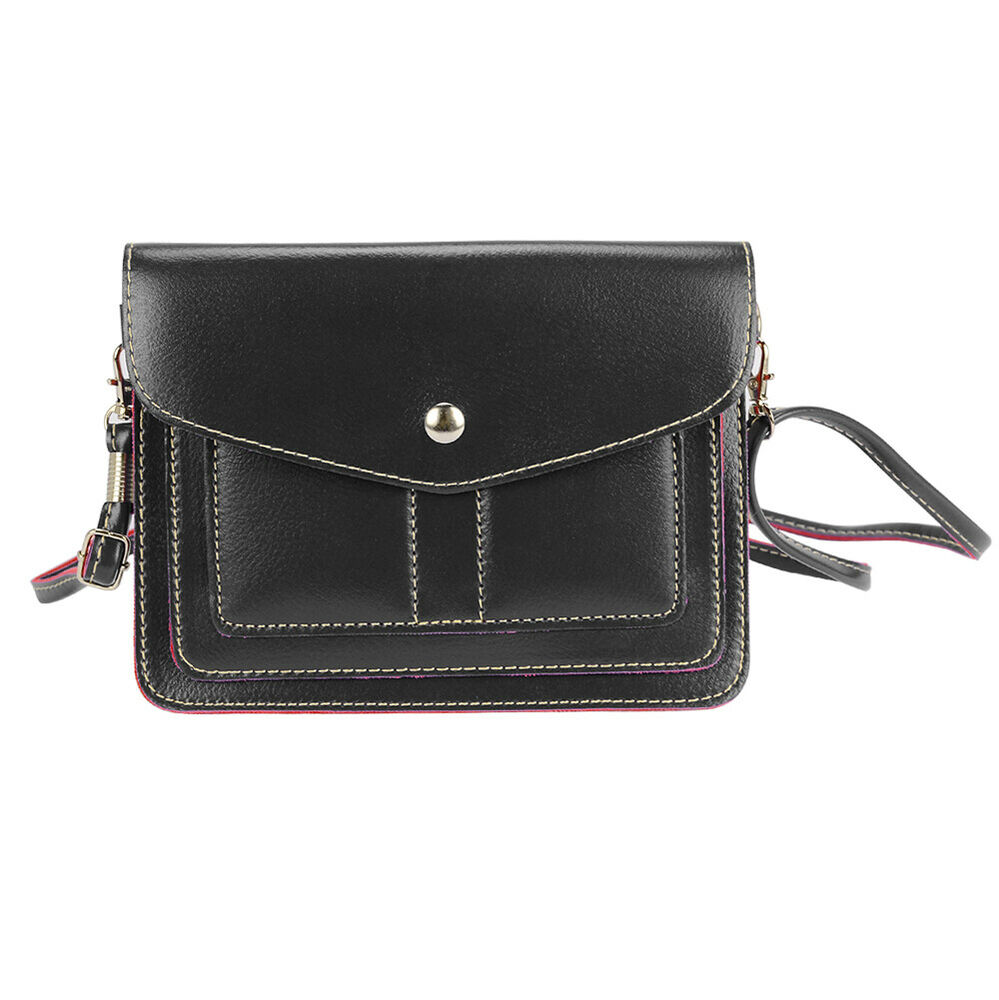 5 7 black mini cell phone shoulder bag for iphone 7 plus lg g6 moto g5 plus ebay. Black Bedroom Furniture Sets. Home Design Ideas
