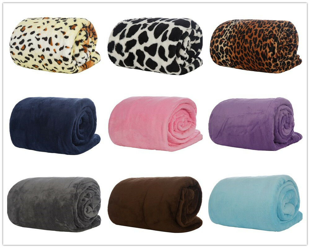 king size deluxe plush fleece blanket soft touch luxury warm home sofa bed throw ebay. Black Bedroom Furniture Sets. Home Design Ideas