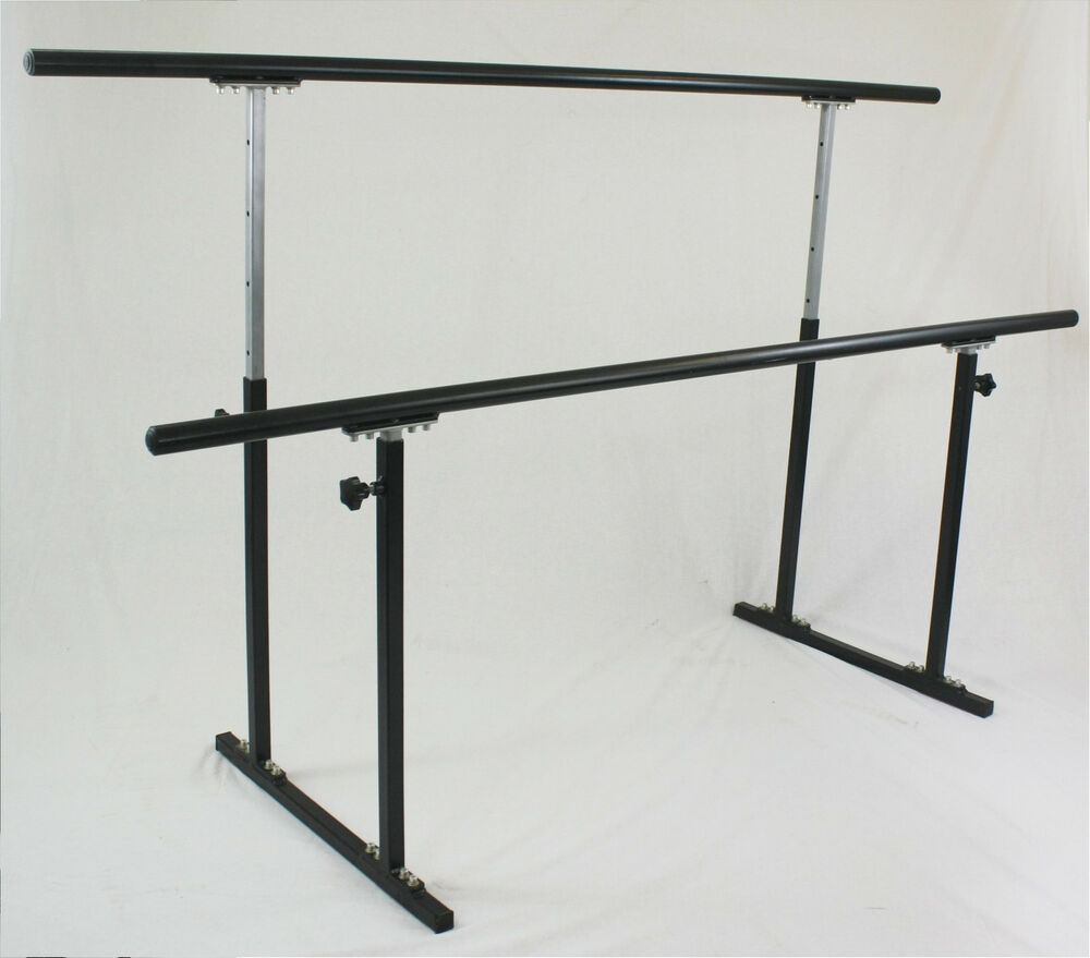 Double ballet barre stand 80 portable bar freestanding for Stand pub