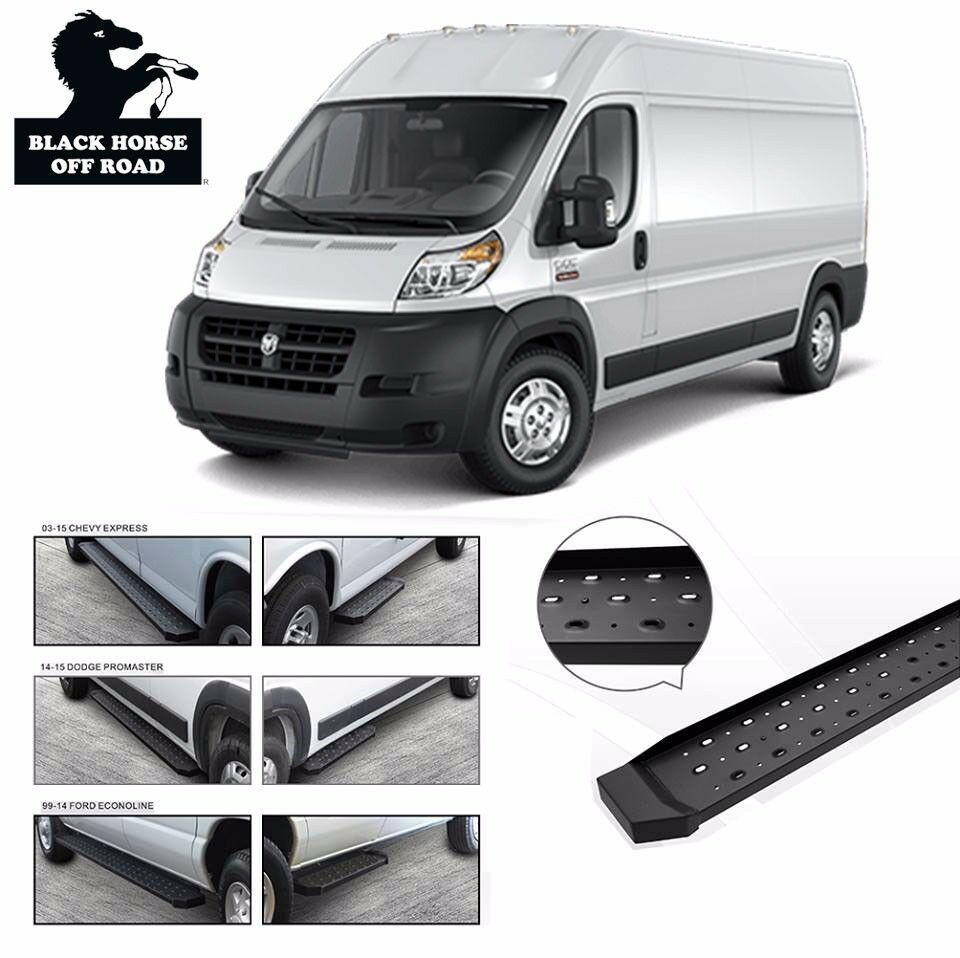 2014 Ram Promaster 1500 Cargo Transmission: Commercial Running Boards [Fits 2014 2015 2016 Dodge