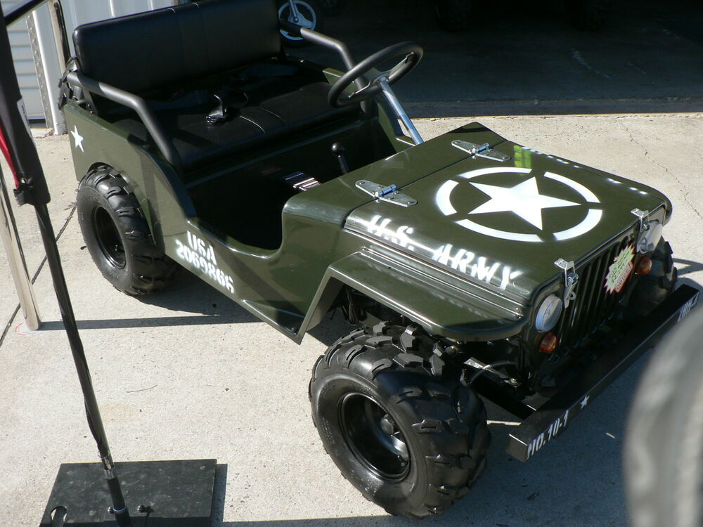 150cc wwii willys army jeep replica 2wd semi auto golf. Black Bedroom Furniture Sets. Home Design Ideas
