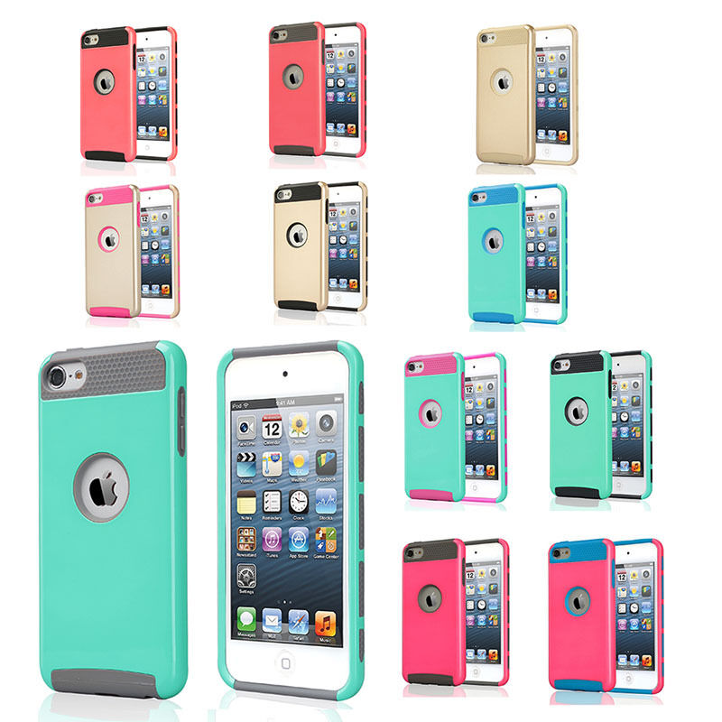 Luxury hybrid high impact case cover for ipod touch 5th for Housse ipod touch 5