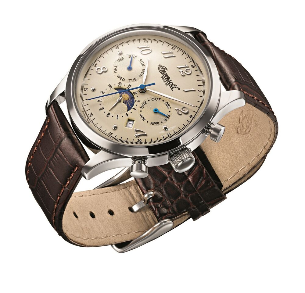 ingersoll union s automatic with brown leather