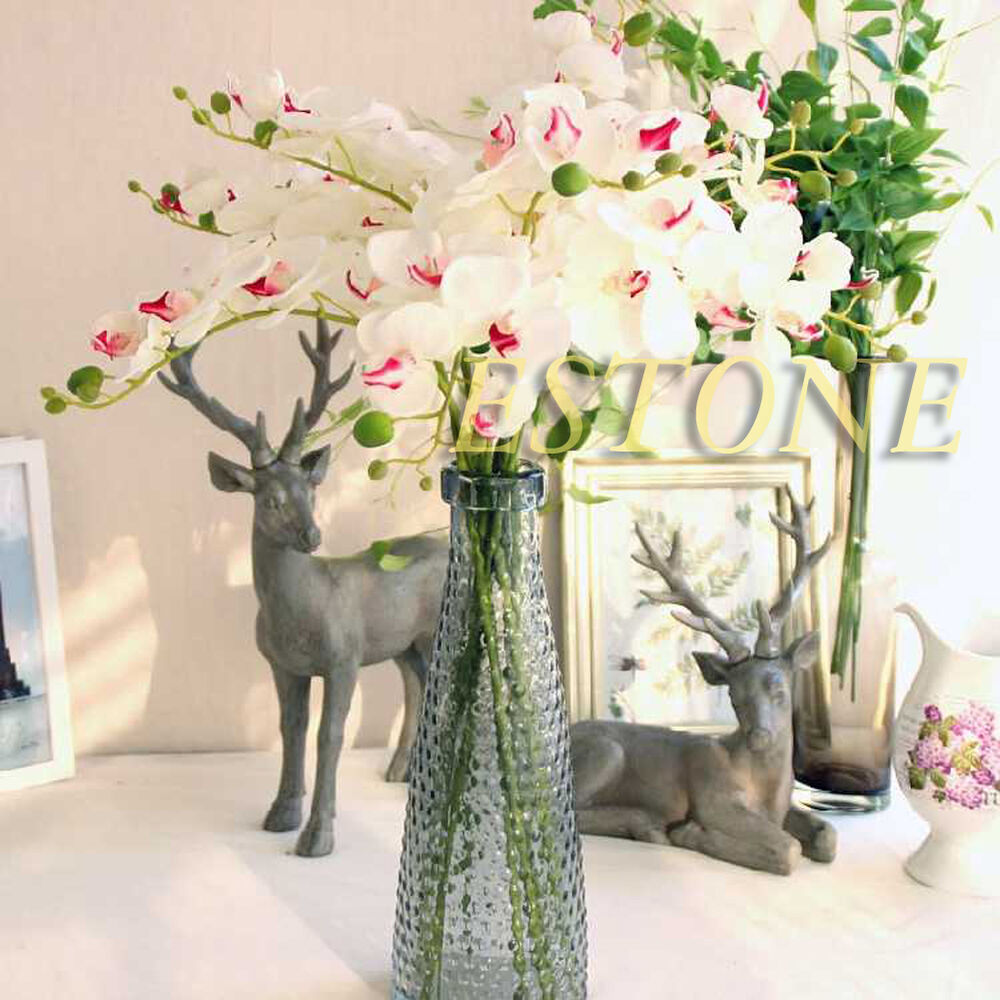 Artificial butterfly orchid silk flower phalaenopsis for Orchid decor
