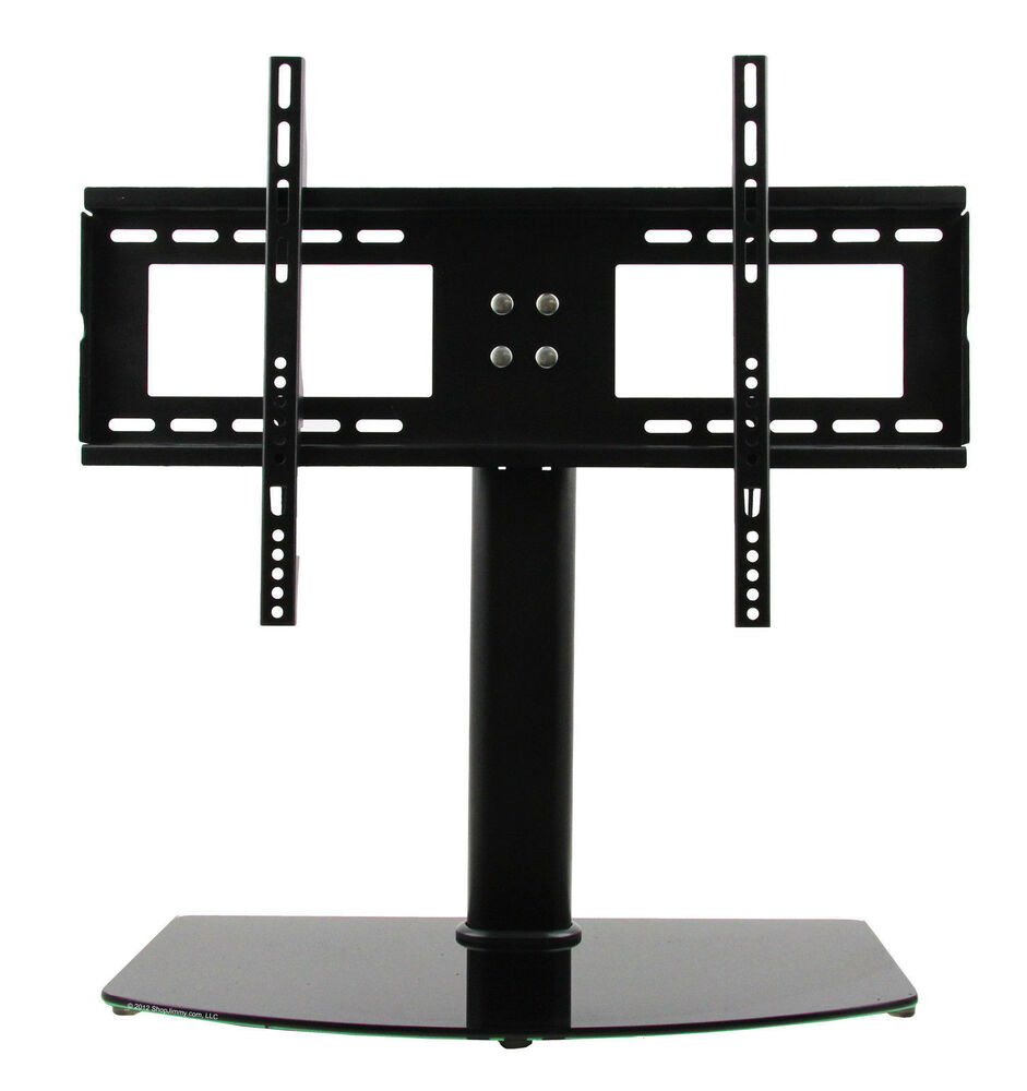 universal tv stand base wall mount for 37 55 flat screen tvs free shipping ebay. Black Bedroom Furniture Sets. Home Design Ideas
