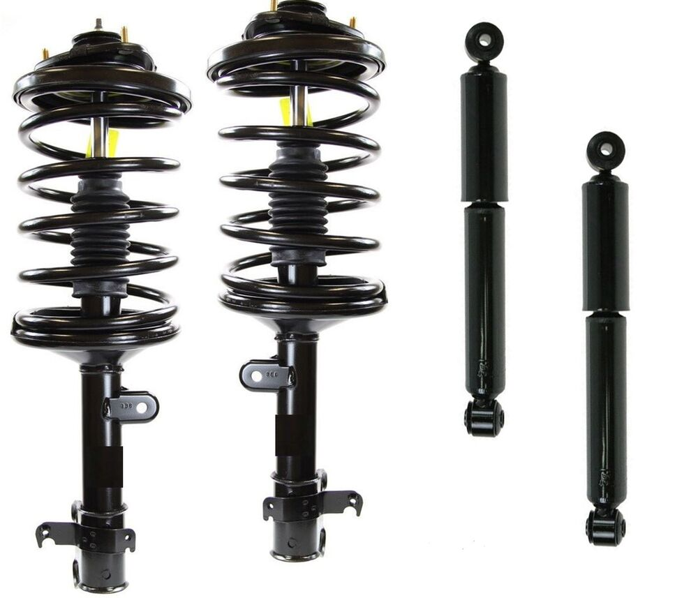 2 Complete Front Struts + 2 Rear Shocks Full Set Fits