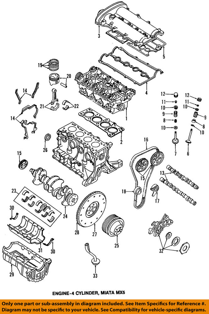 99 mazda miata engine diagram mazda oem 94-97 miata-valve cover gasket bp0510235c | ebay 2003 miata engine diagram