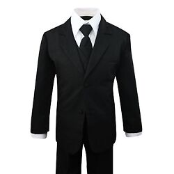 Kyпить Boys Formal Black Suit 5 Pieces Set Toddler Size 2T to 14 на еВаy.соm