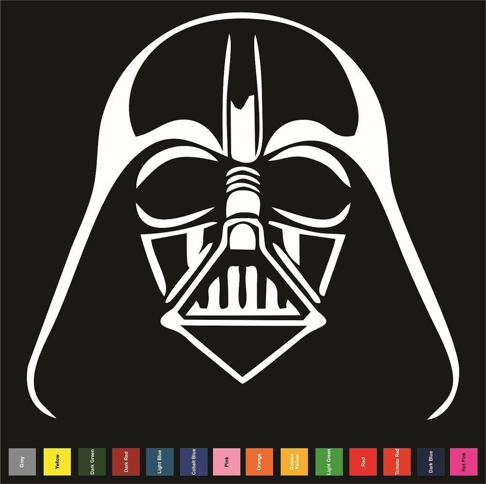 Darth Vader Sticker Decal Star Wars Empire Car