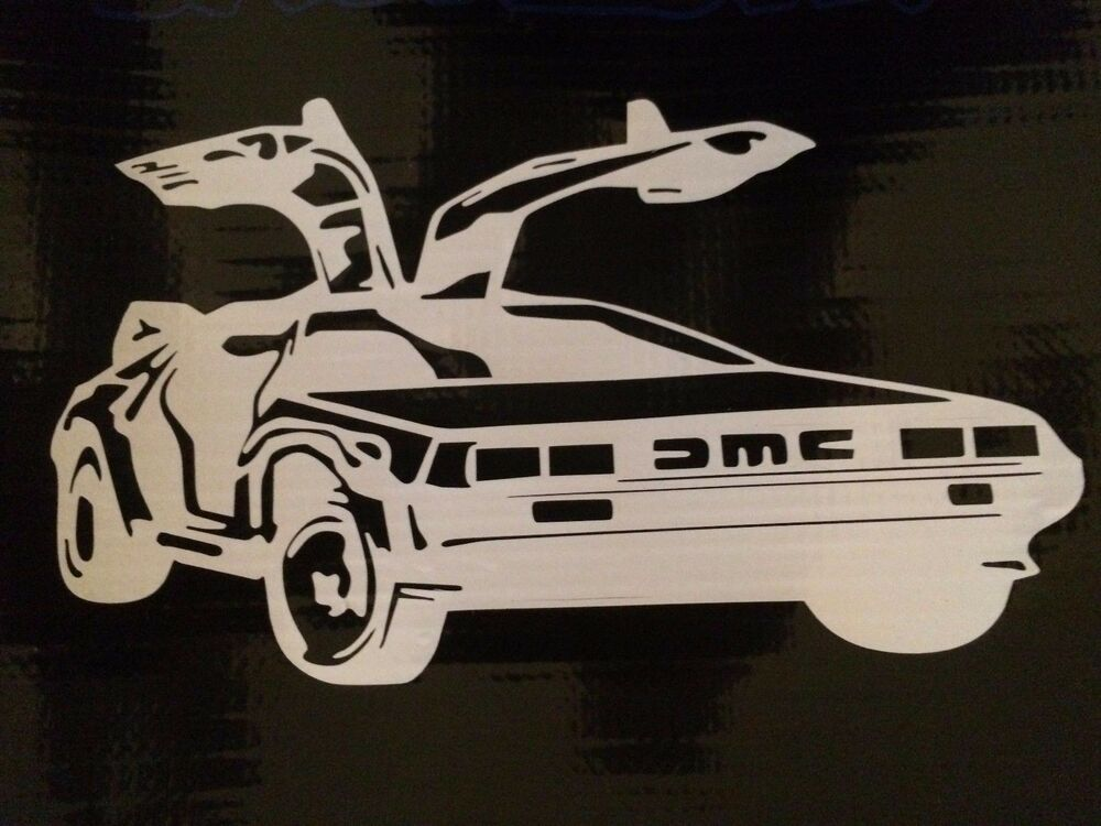 back to the future delorean vinyl decal sticker 7 ebay. Black Bedroom Furniture Sets. Home Design Ideas