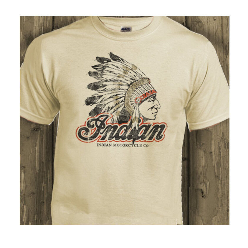 Indian Motorcycles Classic Biker Usa Distressed Print