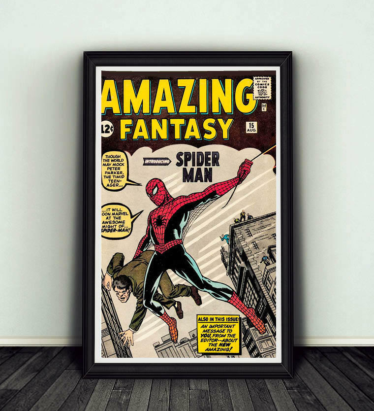 Fantasy Book Cover Posters ~ Amazing fantasy comic book cover replica poster