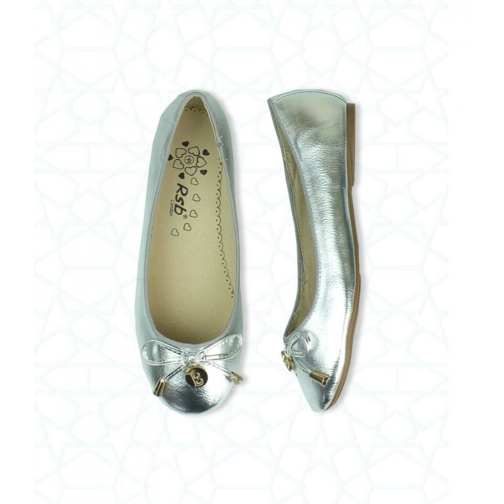 Details about Girls Ballet Flats Wedding Party Special Occasion Shoes