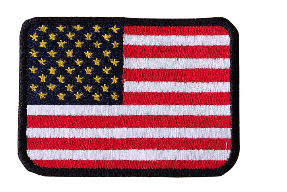 Biker Vest Patches >> AMERICAN FLAG Embroidered Iron On Motorcycle Biker Vest Jacket Military Patch P7 | eBay