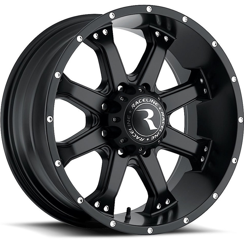 20 inch black Raceline Assault 991 wheels Ford F250 F350