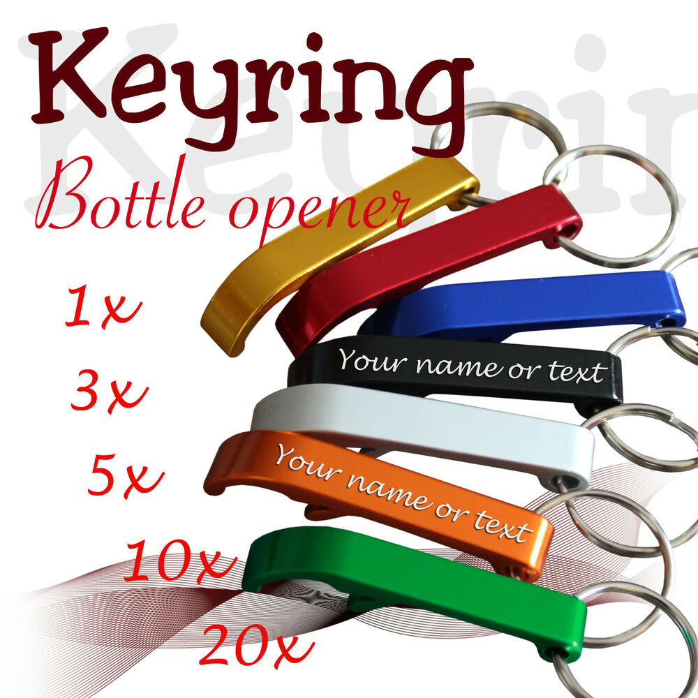 personalised keyring bottle opener wedding ebay. Black Bedroom Furniture Sets. Home Design Ideas