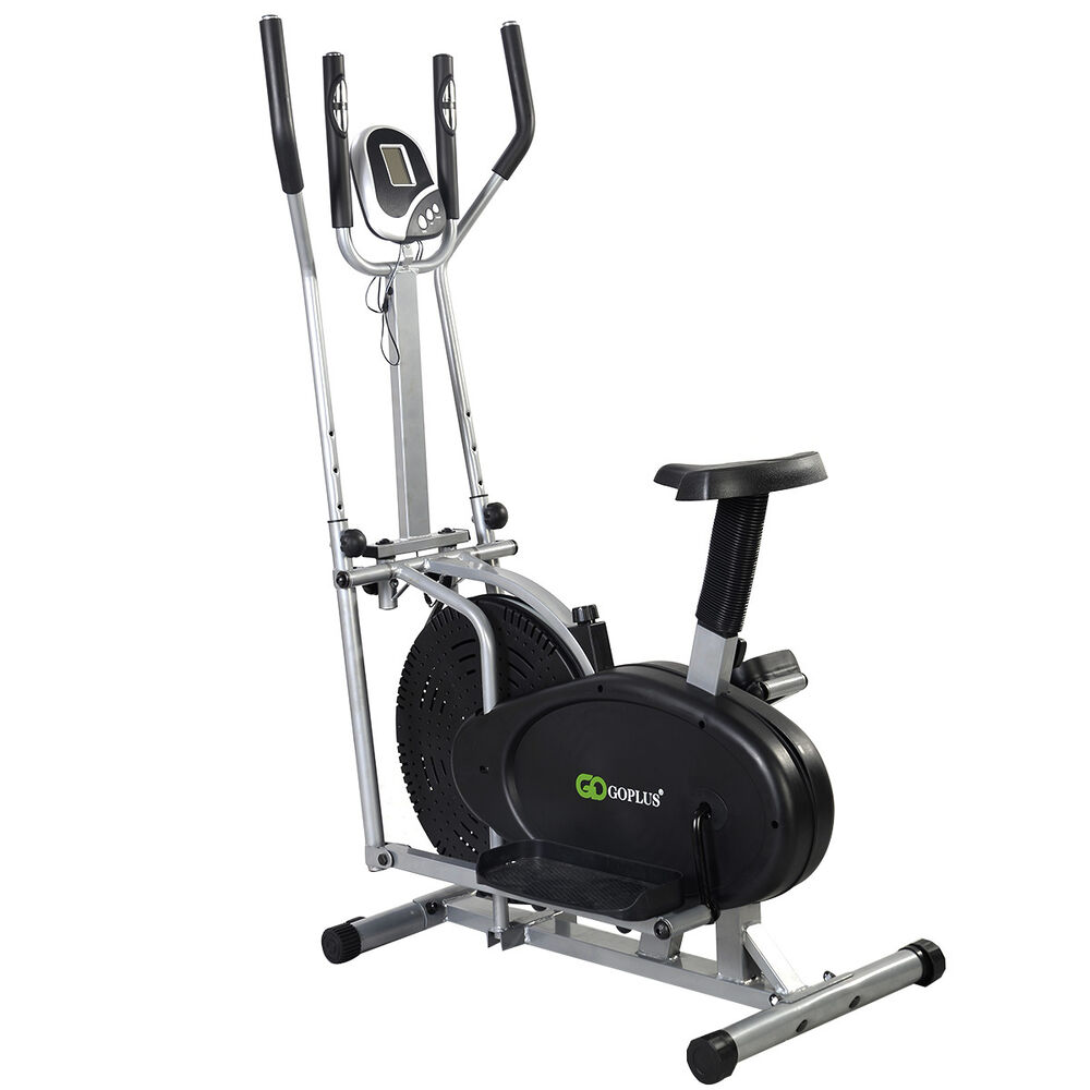 Goplus 2 In 1 Elliptical Bike Dual Cross Trainer Machine