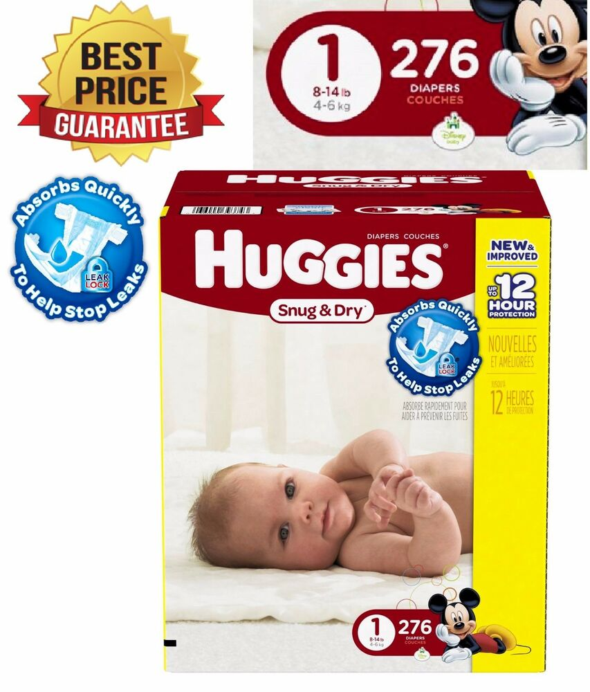 Huggies Baby Diapers 276 Count Pampers Newborn Size 1
