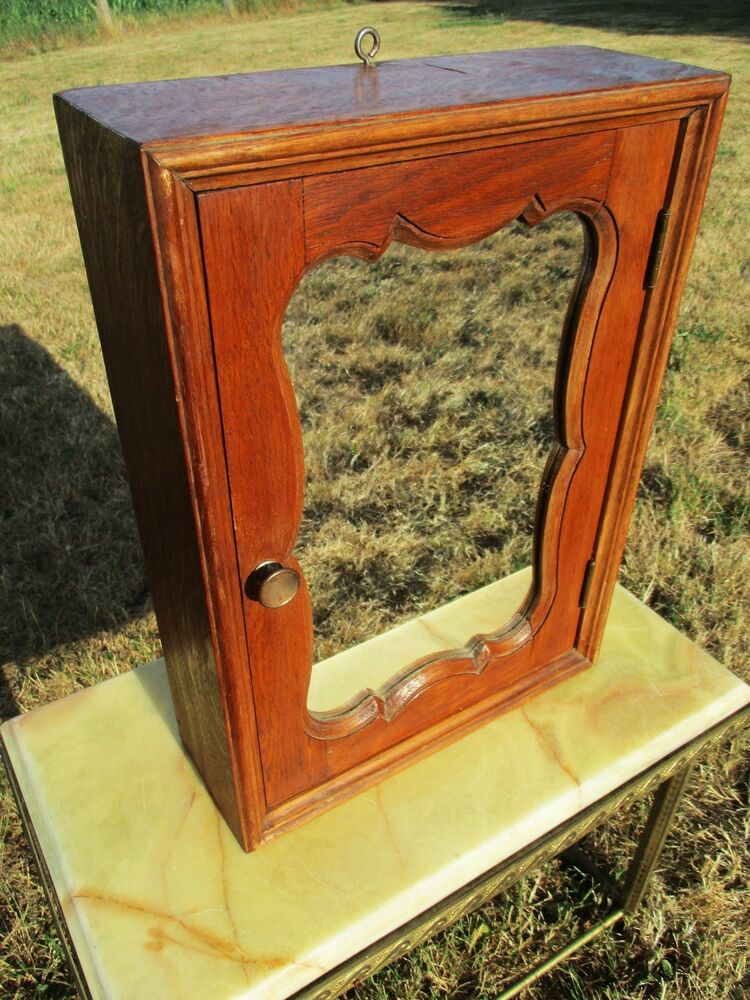 Vintage Wood Medicine Apothecary Cabinet Special Shaped