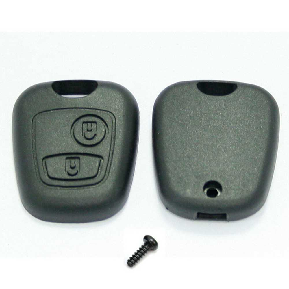 coque clef plip bouton cl 2 boutons peugeot 307 107 boitier cle t l commande ebay. Black Bedroom Furniture Sets. Home Design Ideas