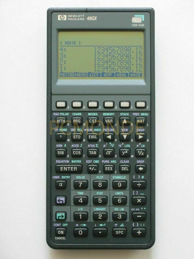 hp 48gx rpn expandable graphic calculator 128kb ram 48gx