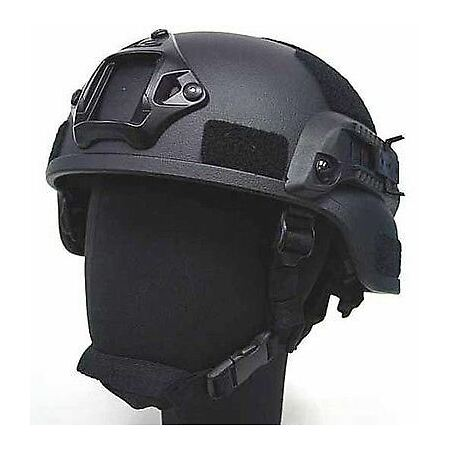 img-SOFTAIR TOY MICH HELMET WITH RAILS TACTICAL BLACK FIBREGLASS UK