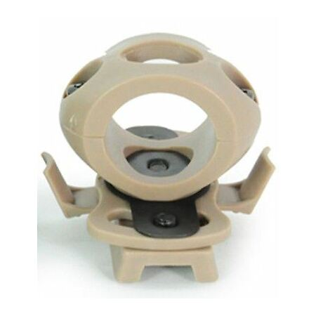img-Softair Af Ops Core Tan Sand Helmet 20Mm Torch Mount Uk Crye Airframe Style Rail