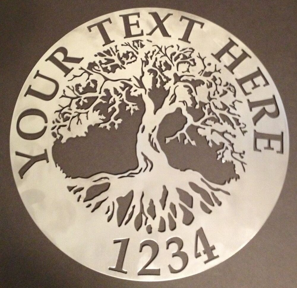 Tree Of Life Wall Art Custom Welcome Name Sign 23 5 Metal