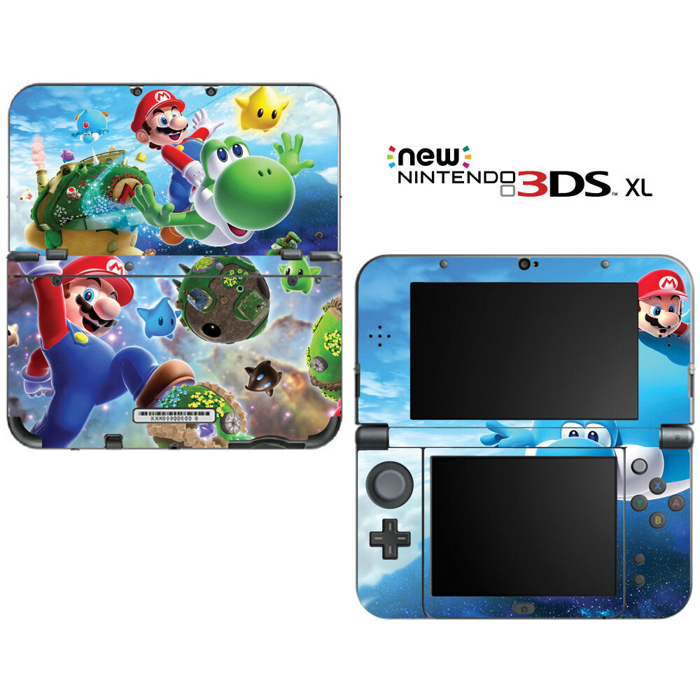 super mario galaxy yoshi for new nintendo 3ds xl skin decal cover ebay. Black Bedroom Furniture Sets. Home Design Ideas