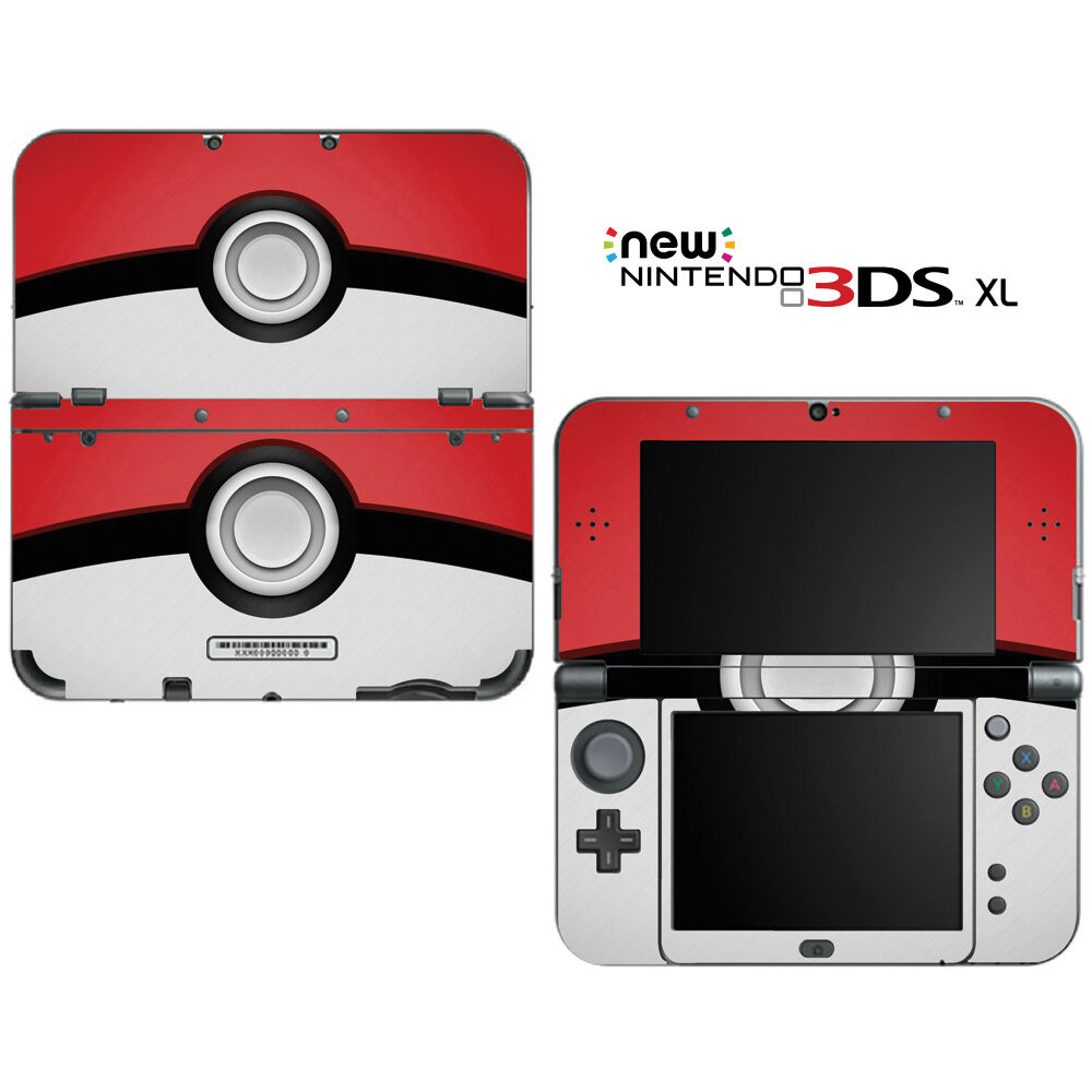 pokemon pokeball for new nintendo 3ds xl skin decal cover. Black Bedroom Furniture Sets. Home Design Ideas