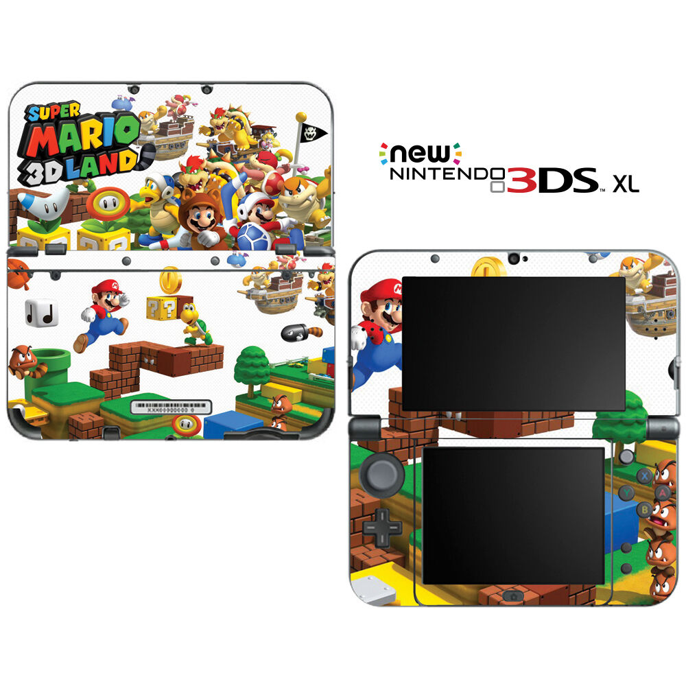 super mario 3d land for new nintendo 3ds xl skin decal cover ebay. Black Bedroom Furniture Sets. Home Design Ideas