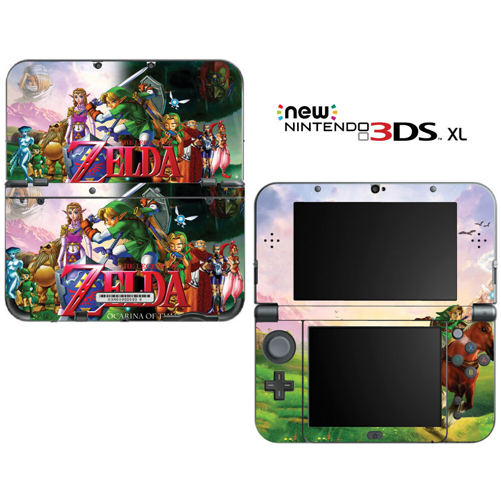 The legend of zelda ocarina of time for new nintendo 3ds xl skin decal cover ebay - Ocarina of time 3ds console ...