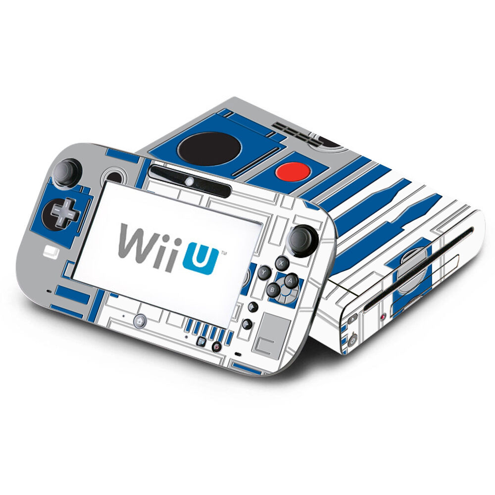 skin decal cover for nintendo wii u console gamepad star wars r2 d2 r2d2 ebay. Black Bedroom Furniture Sets. Home Design Ideas